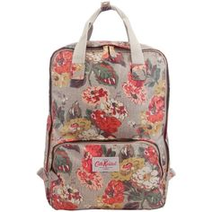 Cath Kidston Medium Backpack, Autumn Florals ($39) ❤ liked on Polyvore featuring bags, backpacks, accessories - bags, brown laptop backpack, laptop pocket backpack, floral rucksack, faux-leather backpacks and cath kidston backpack