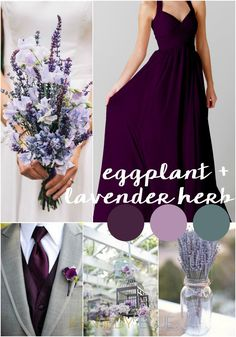 Eggplant and Lavender Herb | Wedding Colors for Spring 2015