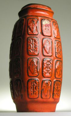 Bay West Germany Pottery Ceramic Modernistic Mid 20 th Century Vintage Retro Pot