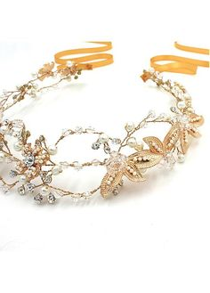 9d015d2ac [28.99] In Stock Marvelous Alloy Wedding Hair Ornaments With Rhinestones &  Pearls