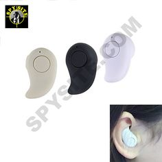 You can use the spy micro ear piece to discretely communicate with someone else while on a surveillance detail. The wireless Bluetooth microphone lets you talk on your phone hands-free and its compact and ergonomic design fits snug in the ear.