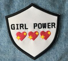 Girl Power Iron-On Embroidered Patch/Badge by InkAndDust on Etsy