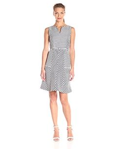 Taylor Dresses Women's Placement Stripe Fit and Flare Belted Dress  http://stylexotic.com/taylor-dresses-womens-placement-stripe-fit-and-flare-belted-dress/