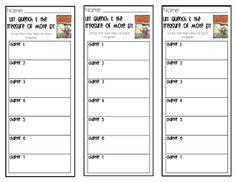 Chapter Book Comprehension Bookmarks