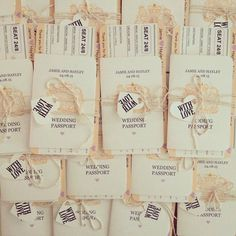 Wedding Boarding Pass and Passport  by CANDYFLOSSCREATIONS1, £4.40