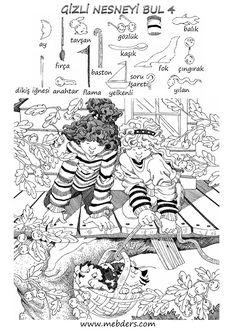 Gizli nesneyi bulma etkinliği 4 Kindergarten Activities, Activities For Kids, Ivan Cruz, Hidden Pictures Printables, Visible Thinking, Paper Games, Hidden Objects, Puzzles For Kids, Funny Signs