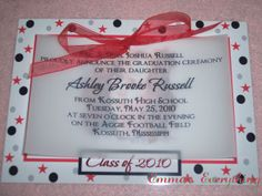 Homemade Graduation Announcements | GRADUATION INVITATIONS & BLING YEAR TASSELS