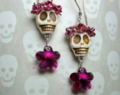 Dia de los Muertos jewelry Day of the Dead by CorinaCrooks on Etsy