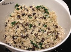 Quick & Creamy Quinoa with Beans and Spinach | Perfect Weeknight Easy Dinner | Protein & Fiber-packed | #Vegetarian | For Fitness & Nutrition Tips & RECIPES please SIGN UP for our FREE NEWSLETTER www.NutritionTwins.com