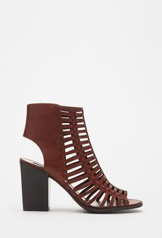 Caged Peep Toe Sandals | Forever 21 - 2000115408