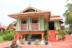 Beautiful traditional Malay house