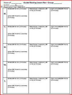 Guided Reading Template And Anecdotal Notes Template  Anecdotal