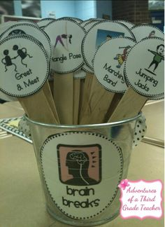Brain Break Sticks: I don't teach but I can see this being good for me during…