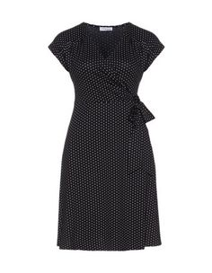 Wrap dress with dots in Black / White designed by Maxima to find in Category Dresses at navabi.de