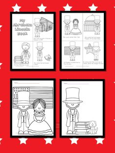 Free Abraham Lincoln Coloring Pages and Abraham Lincoln Coloring Book for kindergarten through second grade. Kindergarten Addition Worksheets, Beginning Of Kindergarten, Addition And Subtraction Worksheets, Kindergarten Books, Free Preschool, Preschool Printables, Who Was Abraham Lincoln, Coloring Books, Coloring Pages
