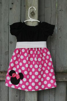Pink Minnie Mouse Dress Disney Mickey Minnie Mouse by SincerelyMe