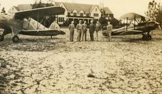A group of men posing with planes in front of the Mt. Plymouth Hotel and Golf Club during the annual Orlando Air Party Photo by William Lazarus. Somewhere In Time, Male Poses, Plymouth, Planes, Orlando, Golf, Florida, Memories, Club