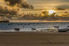 Una puesta de sol de color oro imposible de repetir....#Cadiz