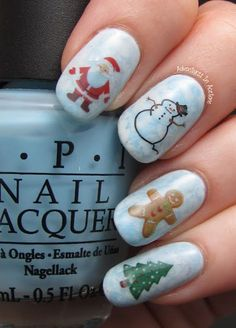 Here are The 11 Best Christmas Nail Art Ideas - Christmas only comes around once a year! We need to go all out!