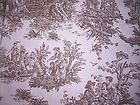 Pink and Chocolate Brown Toile fabric-home decor - 5/8 yard - Brown, CHOCOLATE, décor, fabrichome, pink, TOILE, yard