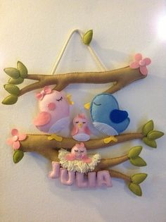 Coleção Passarinhos - Enfeite de maternidade