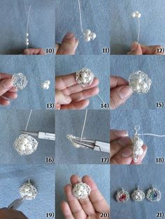 DIY Wire Wrapped Bird Nests fJewelry | Shelterness