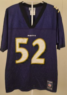 8ee4ce1c581 Reebok Baltimore Ravens Jersey #52 Ray Lewis NFL Youth Large (14/16) Purple  #Reebok #BaltimoreRavens