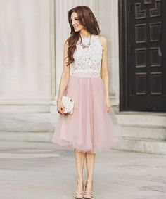 Lovely pink skirt for your engagement photo outfit! Shop it here 👉🏻 http://liketk.it/2pn7o @liketoknow.it #liketkit #skirt #pink #lace #croptop