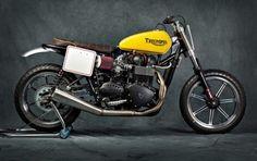 Triumph Flat Tracker #motorcycles #flattracker #motos | caferacerpasion.com