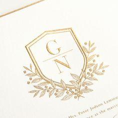 G N monogram / Wedding Monogram Crest Wedding Logo Design, Wedding Logos, Monogram Wedding, Wedding Stationary, Wedding Designs, Wedding Invitations, Wedding Monograms, Invites, Wedding Ideas