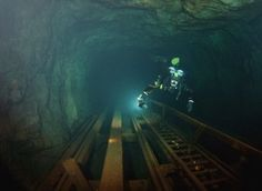 Diving a sunken mine in Sweden