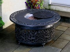 outdoor coffee fire pit table