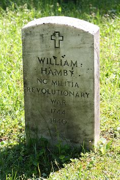 Revolutionary War soldier's grave site, Cade's Cove, Smoky Mountains Nat Park, North Carolina.