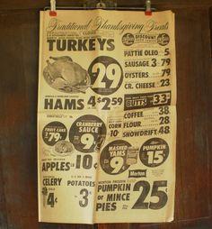 1963 Kitchen Poster Newspaper Grocery Store by VintageCarolina, $6.00