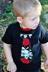 Skull and Roses Tie Tee