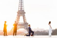 Paris surprise proposal: the most incredible Eiffel Tower proposal ever!