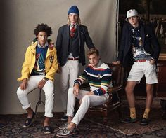 POLO Ralph Lauren Champions Ivy League Style with Spring Collection (The Fashionisto) Preppy College Style, Preppy Boys, Preppy Style, Teen Style, Mens Fashion Wear, Teen Fashion, Preppy Handbook, Ivy League Style, Preppy Sweater