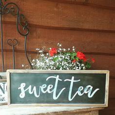 Sweet Tea Sign / 9 x 25 / southern decor-fixer upper-shiplap-farmhouse decor / farmhouse kitchen/ vintage kitchen sign / kitchen decor /Wood by mangoseedmarketplace on Etsy