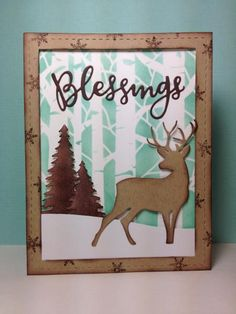 Birch tree accessories: Taylored Expressions, Blessings die: SSS, birch tree stencil, winter, by beesmom - Cards and Paper Crafts at Splitcoaststampers