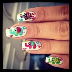 Elephant nails. This is awesome!!