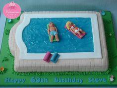 Cute Pool Cake