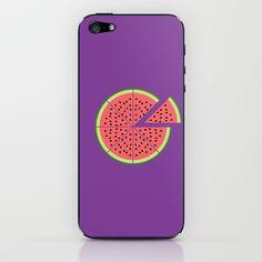 Watermelon Pizza iPhone & iPod Skin by Javier Perez Estrella - $15.00