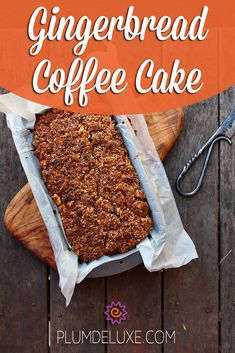 With the tender, buttery crumb of coffee cake paired with fragrant ginger and strong molasses, this Gingerbread Coffee Cake is a recipe made in heaven. Heaven Is This Gingerbread Coffee Cake Recipe Donna Franklin dlfrankl Breakfast/Brunch With the Coffee Dessert, Coffee Cake, Easy Cake Recipes, Dessert Recipes, Brunch Recipes, Bread Recipes, Desserts, Easy Gingerbread Recipe, Ginger Coffee
