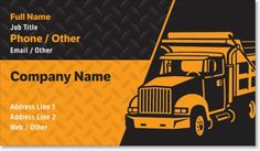 Why You'll Love Orange Dump Truck Signature Business Cards