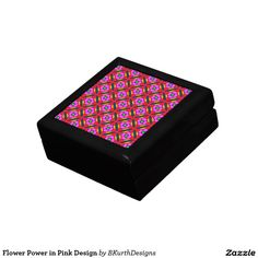 Flower Power in Pink Design Jewelry Box