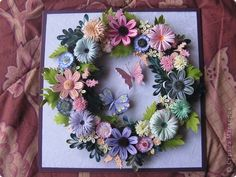 Picture, pictures, graphic Quilling: Lesson 9: Olga K. Paper strips.  Photo 1