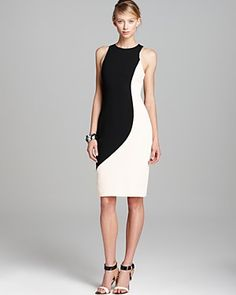 Rachel Roy Sculpted Color Block Dress | Bloomingdale's