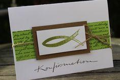 Einladungskarten - Einladungskarte zur Kommunion/Konfirmation - ein Designerstück von Villala bei DaWanda
