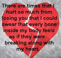 Inspirational quote broken heart quotes Heart Ache Sadness Depression Breakup