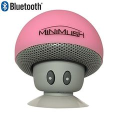 Mini Bluetooth Speaker - Fun Shockproof Cartoon Mushroom with LED Display Lighting and Wireless Integrated Mic for Calls - Ideal for your iphone 6, Apple Ipad, HTC and Samsung Phone (Pink) MiniMush http://www.amazon.com/dp/B01962DE6Y/ref=cm_sw_r_pi_dp_7VvNwb07Z4RVH